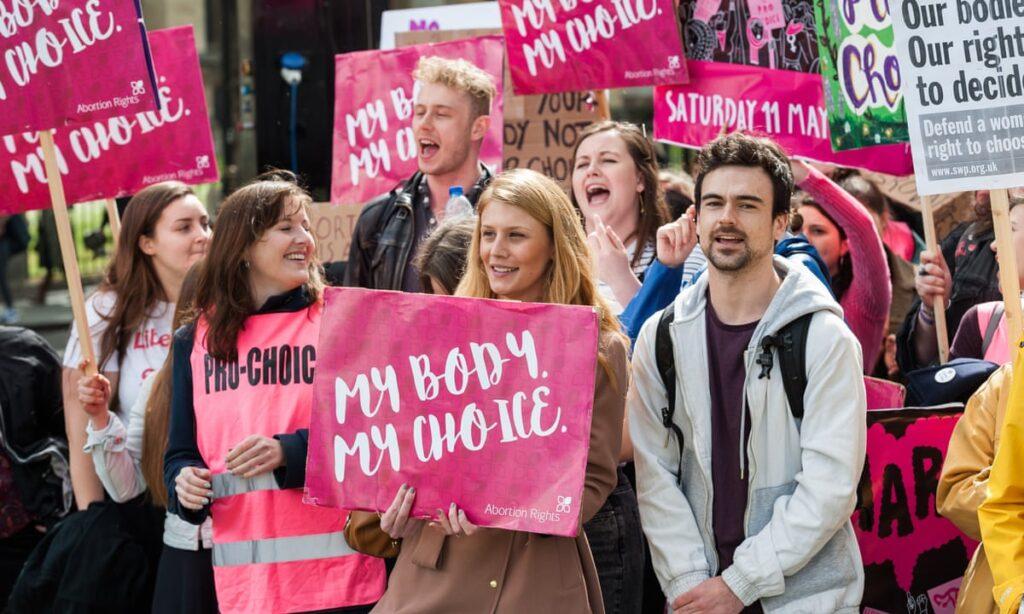 Протест в полза на аборта